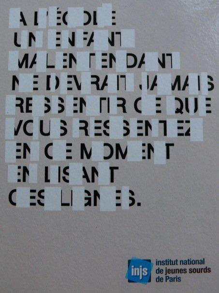 Affiche de l'INJS sur la lecture labiale