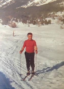 Papi Jean sur les skis